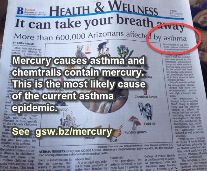 Kvikksølv forårsaker astma