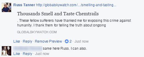 Thousands Smell and Taste Chemtrails